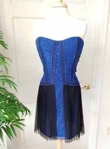 BCBG Strapless Lace Dress